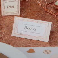 Geo Blush Place Cards (25)